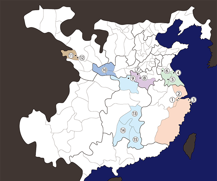 孫堅関連地図