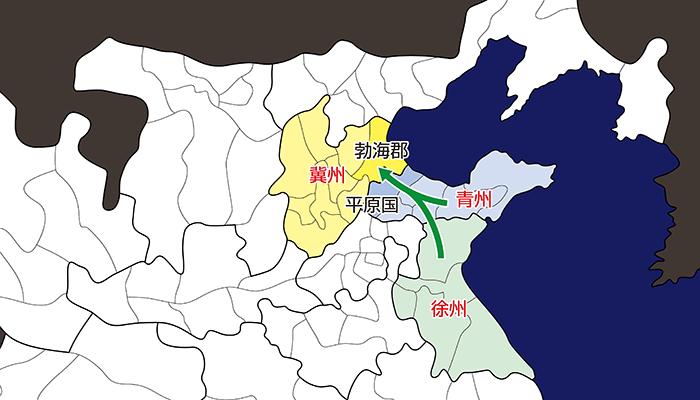 黄巾賊の進軍経路