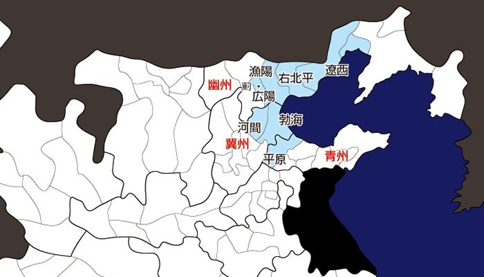 張純の乱の侵攻範囲