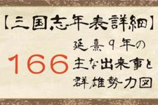【三国志年表詳細】166年の主な出来事と群雄勢力図