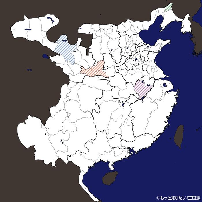 167年三国志勢力図