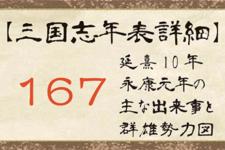 167年の出来事と群雄勢力図