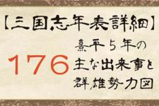 176年の出来事と群雄勢力図