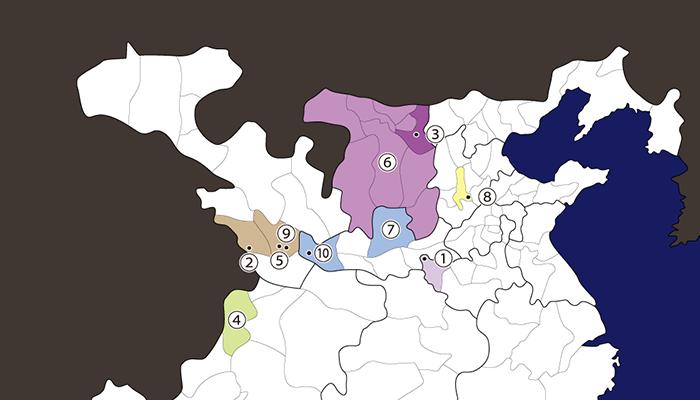 董卓関連地図
