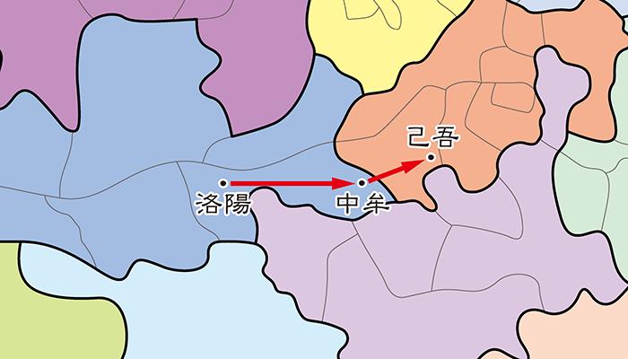 曹操の逃走経路(正史)