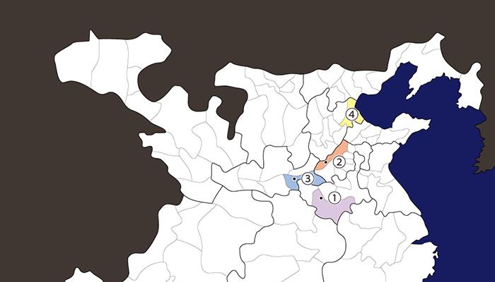 袁紹の関連地図