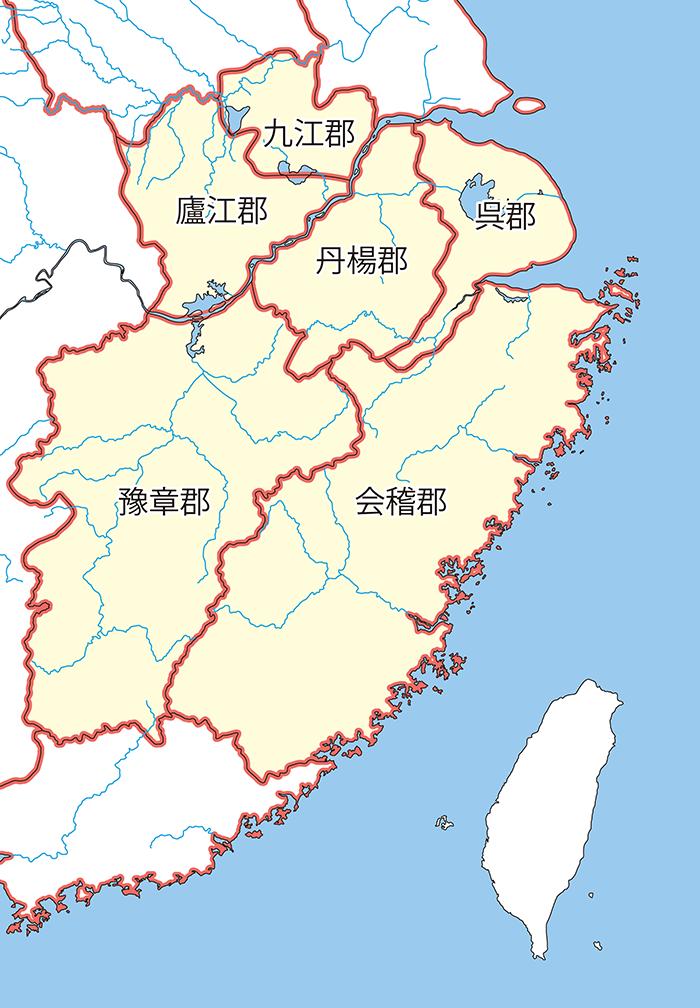 揚州の領郡