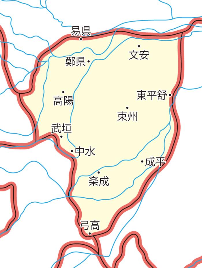 河間国(かかんこく)の領城