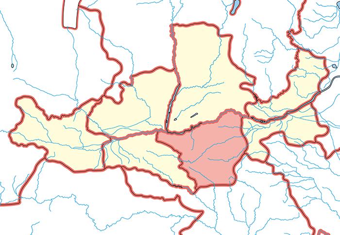 弘農郡(こうのうぐん)の場所