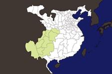 【三国志地図】「益州(えきしゅう)」の郡県詳細地図(後漢末期)