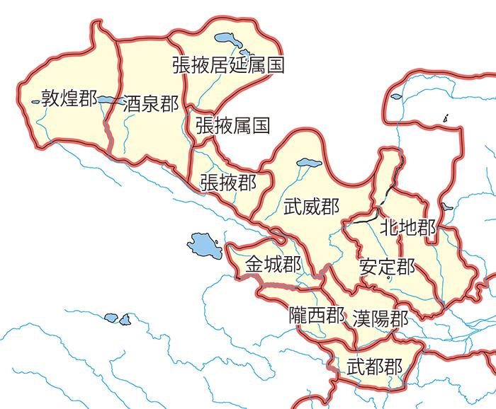 涼州(りょうしゅう)の領郡