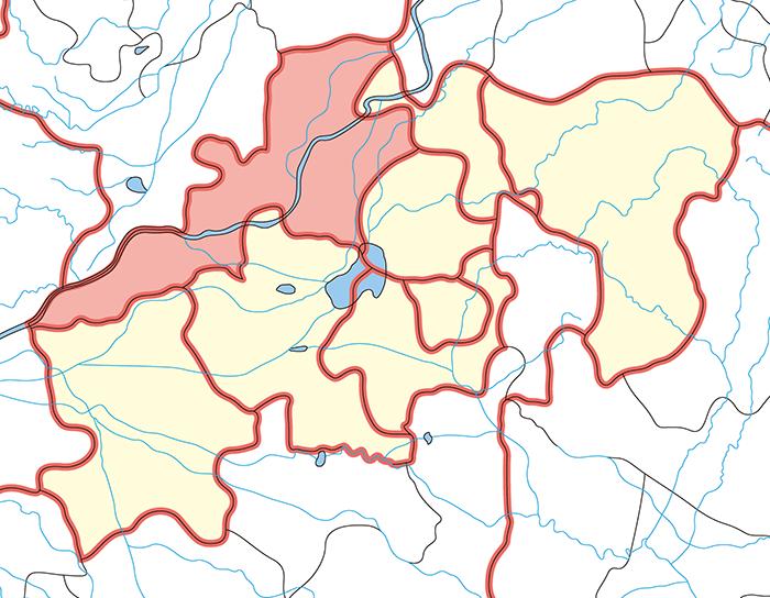 東郡(とうぐん)の場所