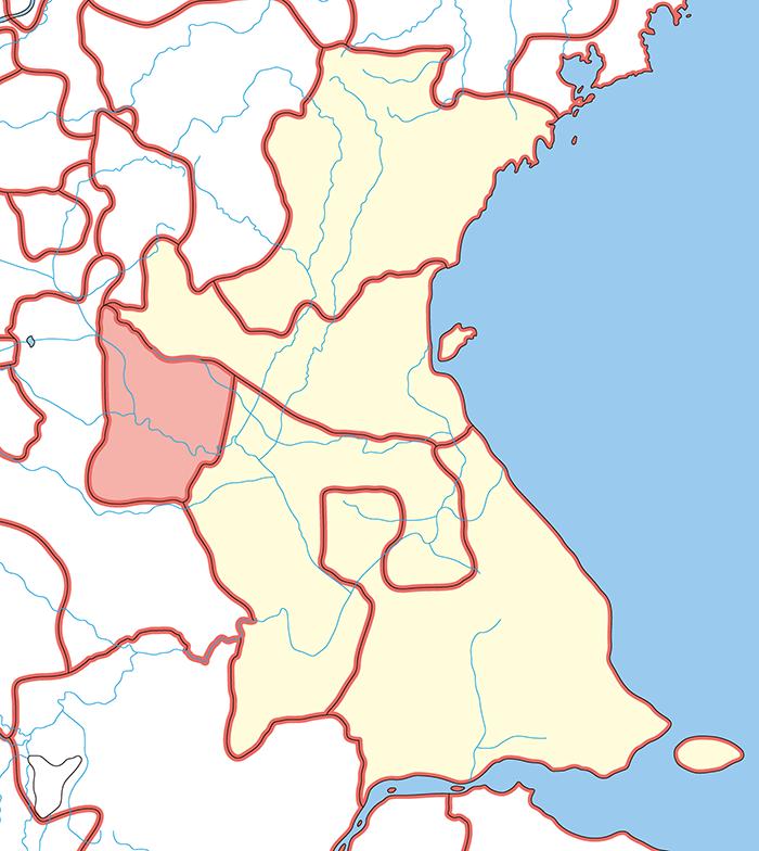彭城国(ほうじょうこく)の場所