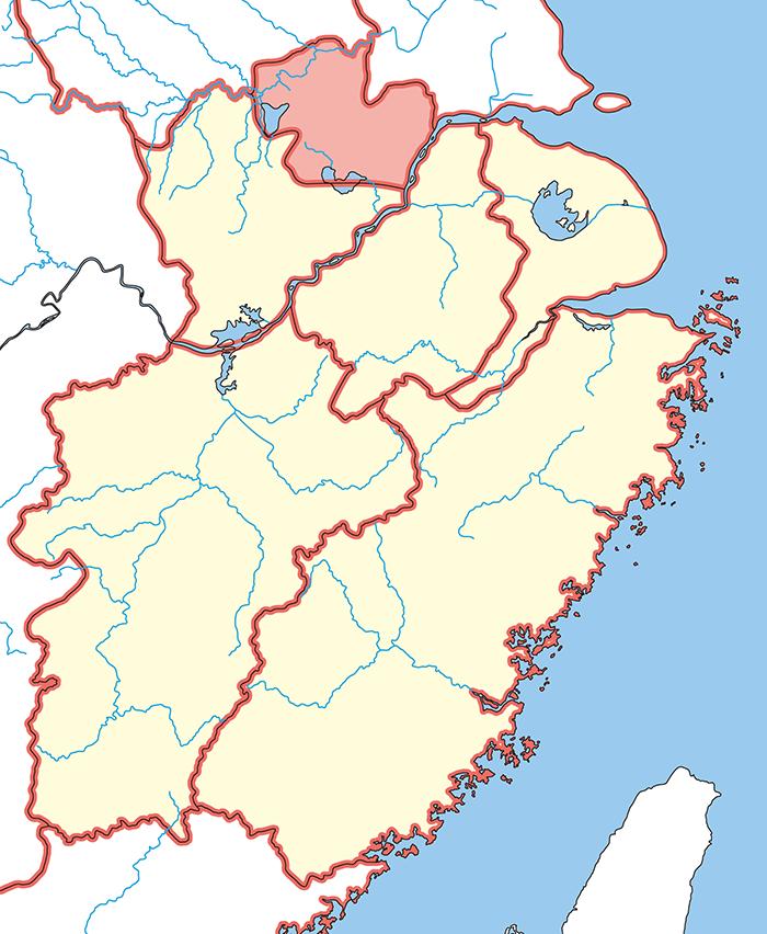 九江郡(きゅうこうぐん)の場所