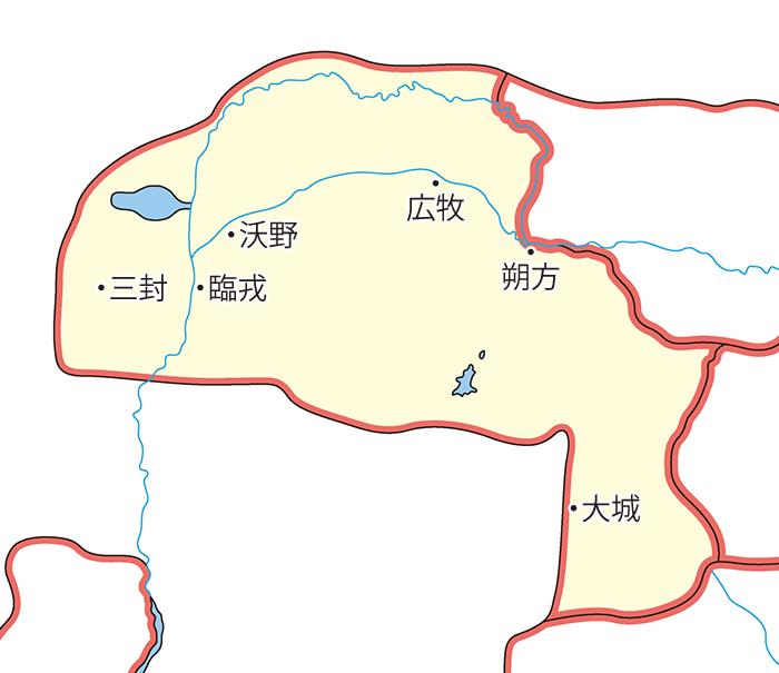 朔方郡(さくほうぐん)の領城
