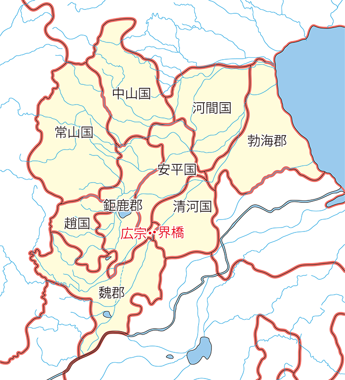 界橋の地図