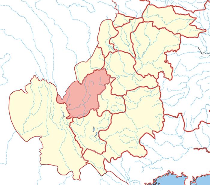 越巂郡(えっすいぐん)の場所