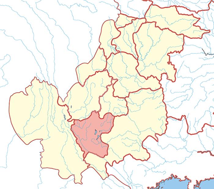 益州郡(えきしゅうぐん)の場所