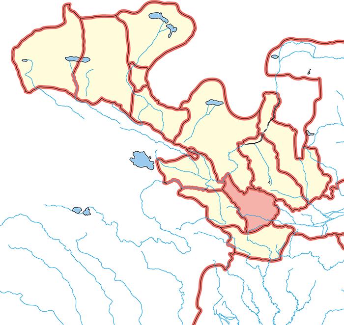 漢陽郡(かんようぐん)の場所
