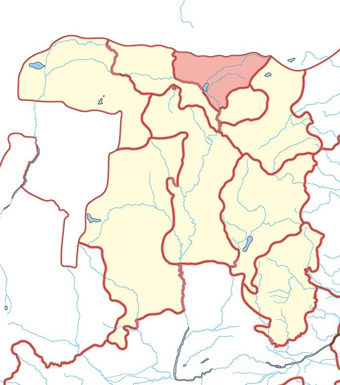 雲中郡(うんちゅうぐん)の場所