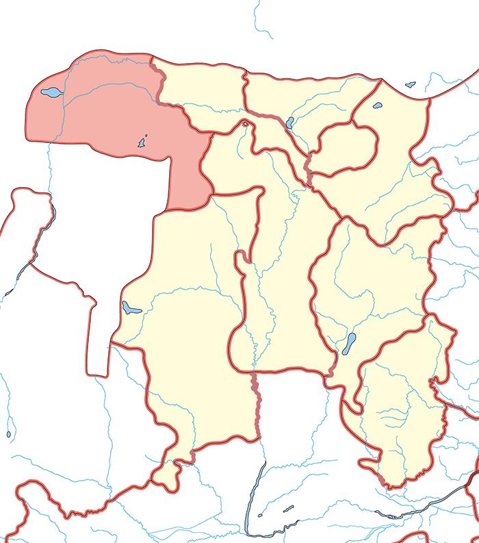 朔方郡(さくほうぐん)の場所