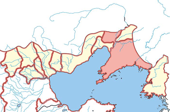 遼東郡(りょうとうぐん)の場所