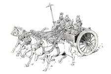 【古代中国の戦車】戎車(じゅうしゃ)・軽車(けいしゃ)・馳車(ちしゃ)