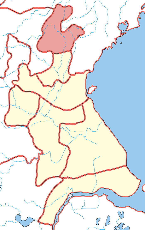 東莞郡(とうかんぐん)の場所