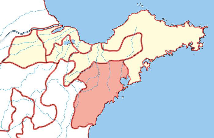 城陽郡(じょうようぐん)の場所