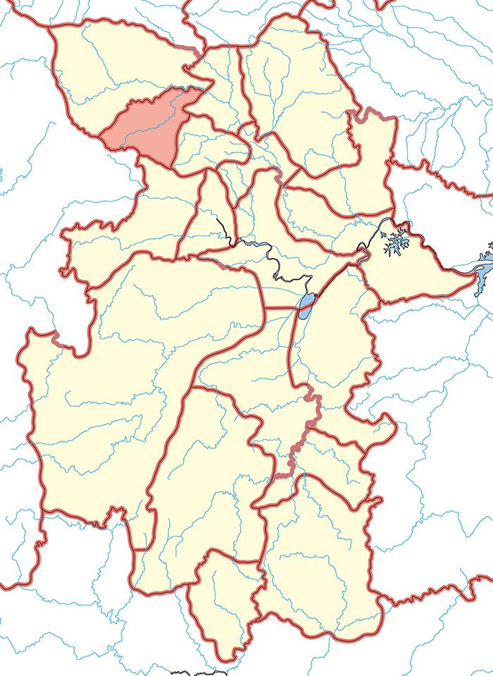 上庸郡(じょうようぐん)の場所