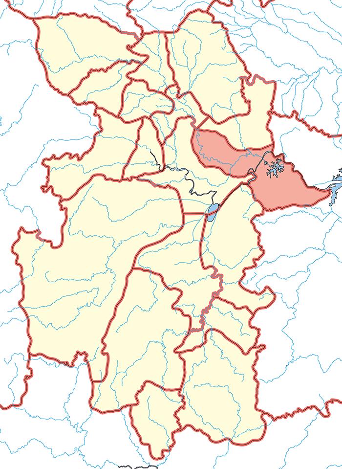 江夏郡(こうかぐん)呉領の場所