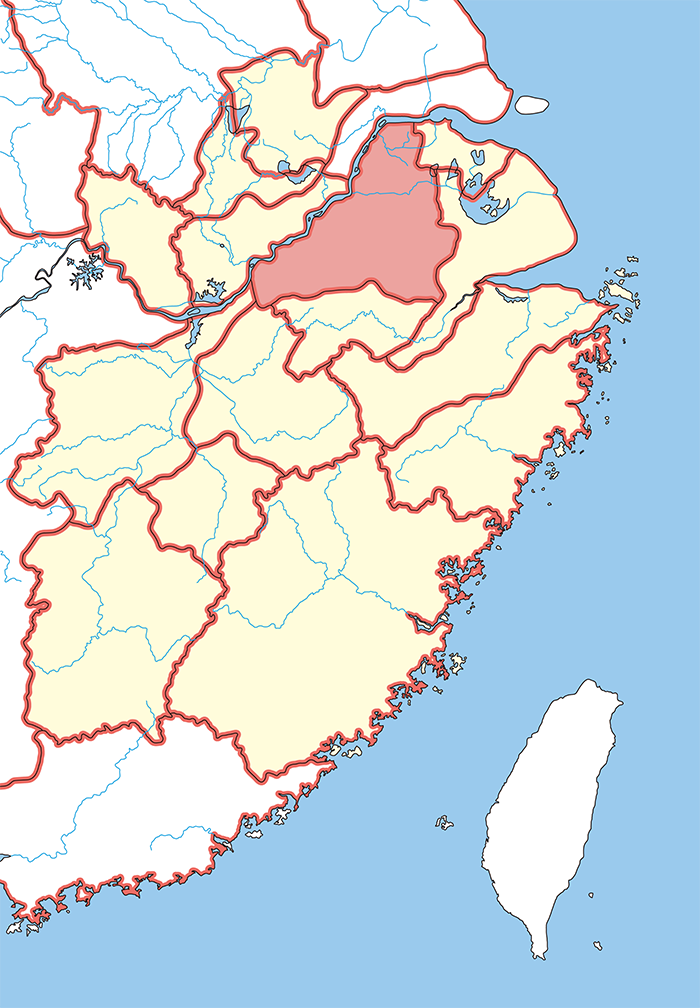 丹楊郡・丹陽郡(たんようぐん)の場所