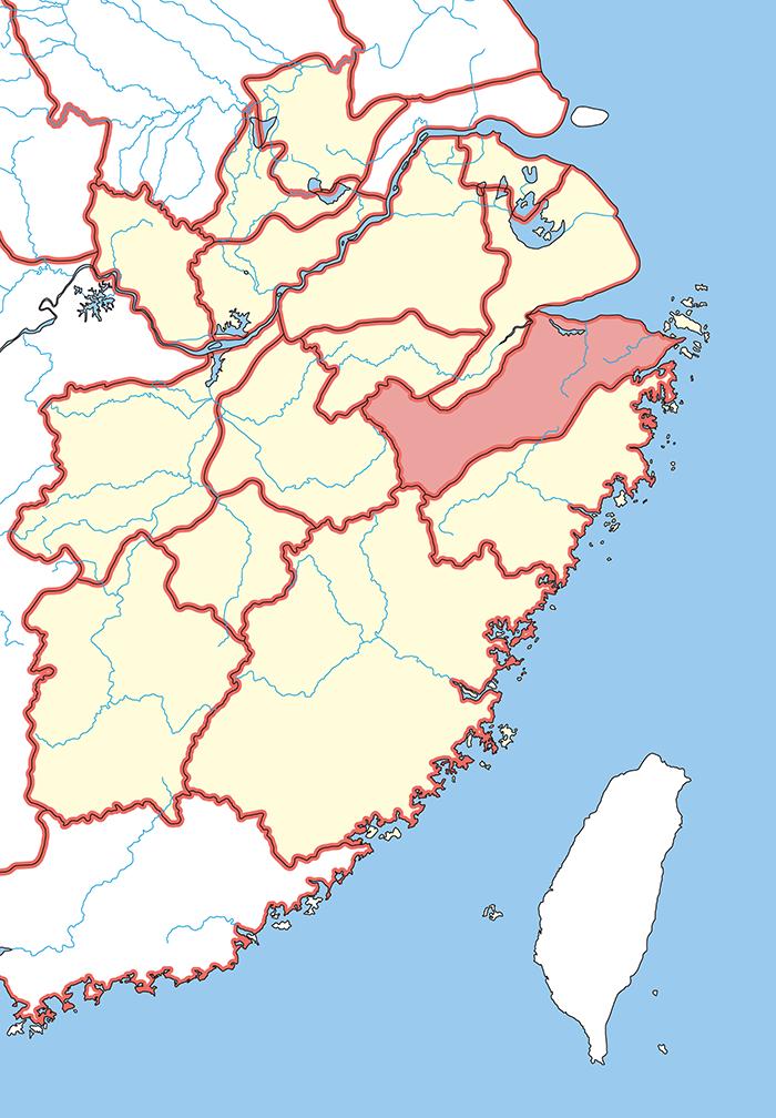 会稽郡(かいけいぐん)の場所