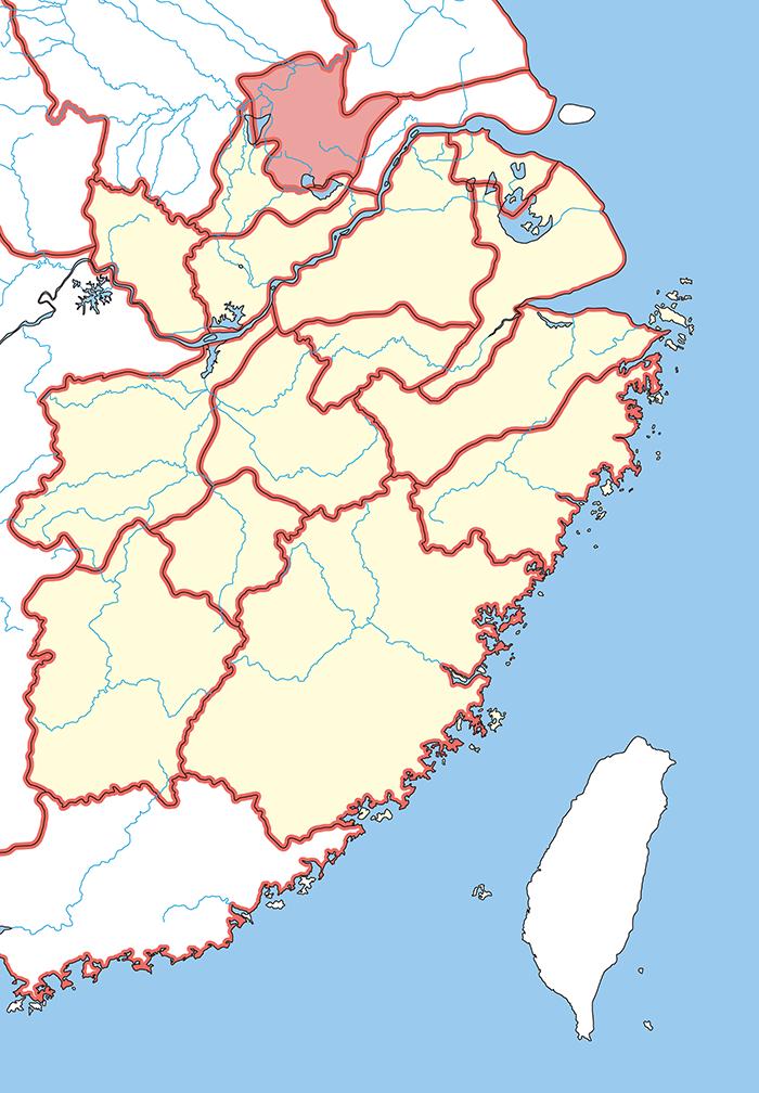 淮南郡(わいなんぐん)の場所