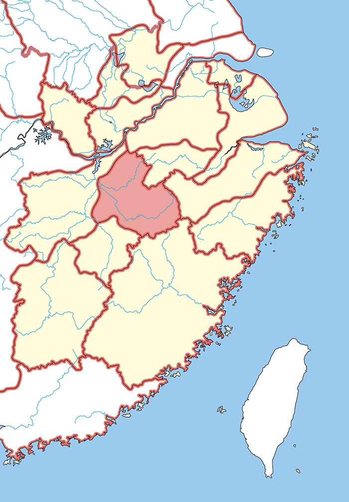 鄱陽郡(はようぐん)の場所