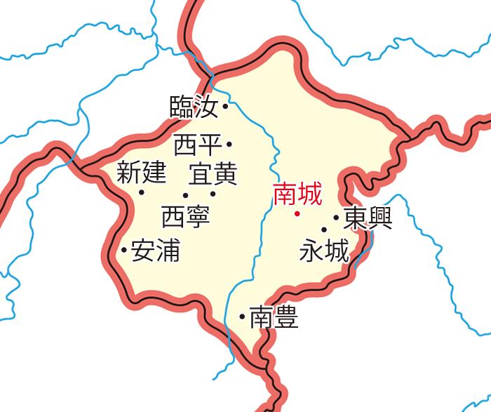 臨川郡(りんせんぐん)の領城