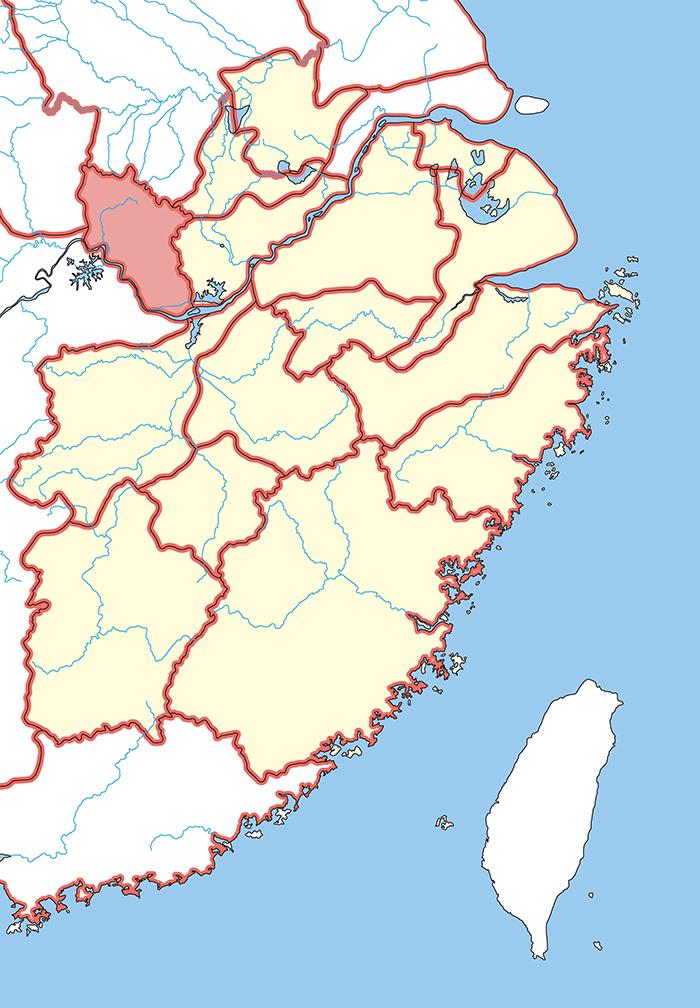 蘄春郡(きしゅんぐん)の場所