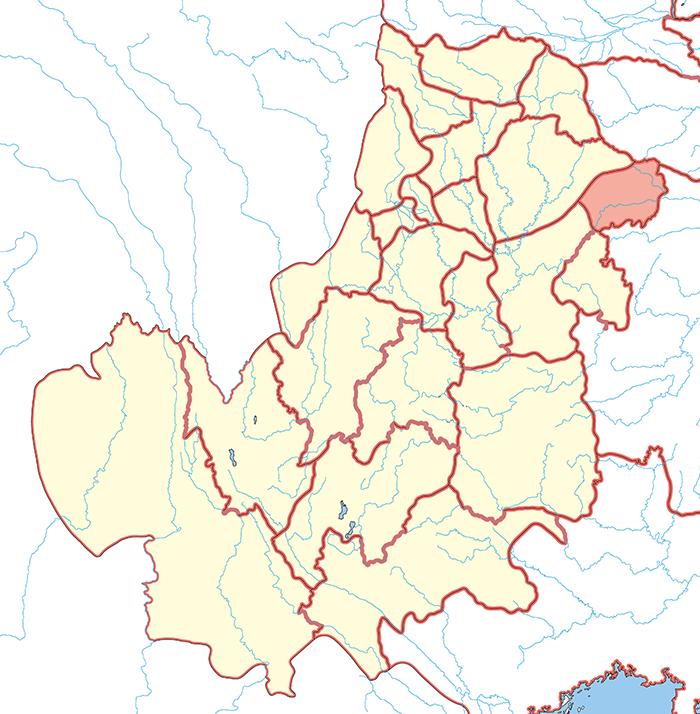 巴東郡(はとうぐん)の場所