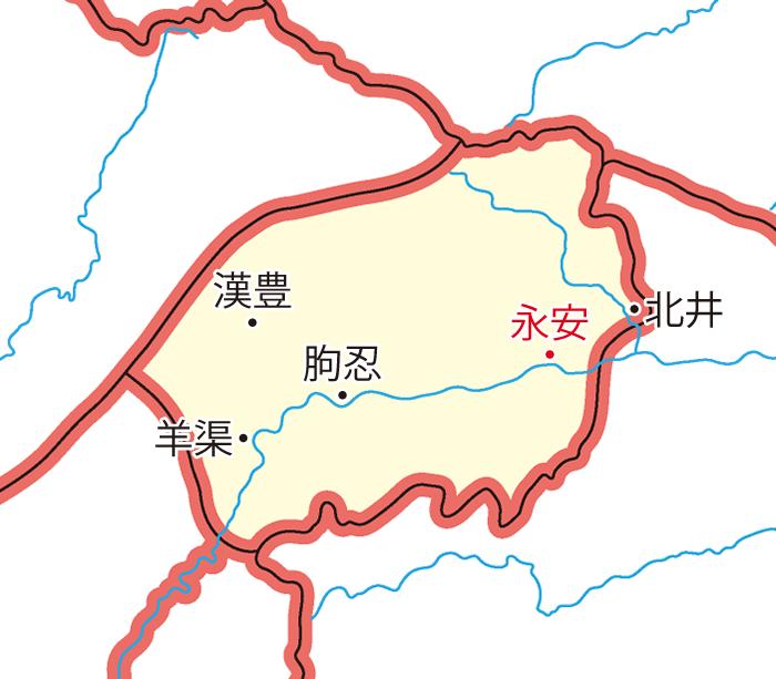 巴東郡(はとうぐん)の領城