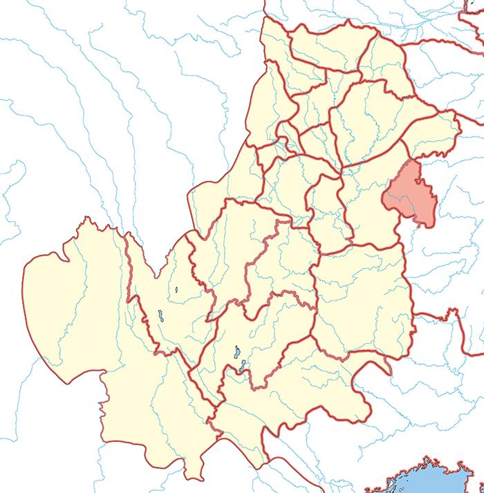 涪陵郡(ふりょうぐん)の場所