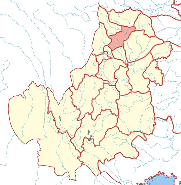 梓潼郡(しどうぐん)の場所