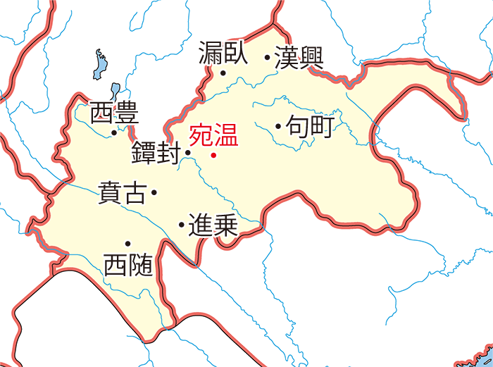 興古郡(こうこぐん)の領城