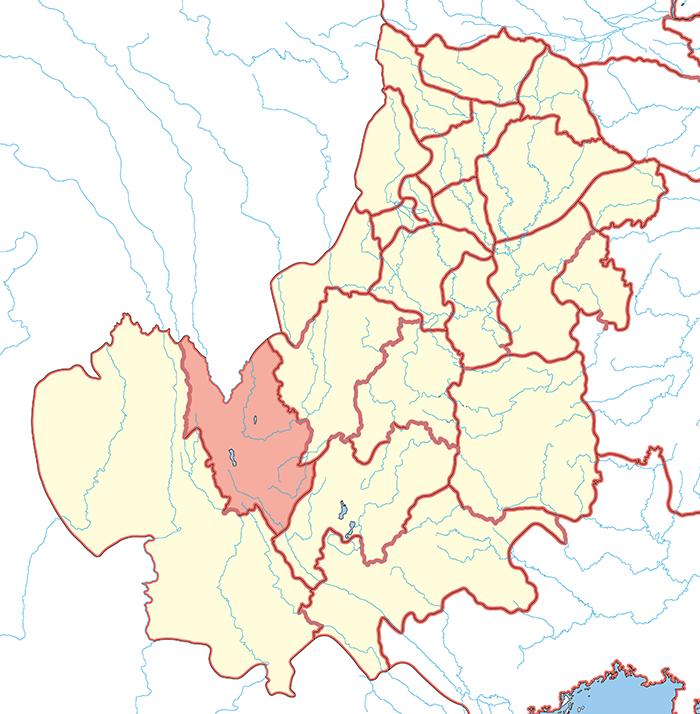 雲南郡(うんなんぐん)の場所
