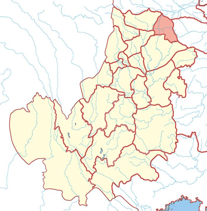 漢中郡(かんちゅうぐん)の場所