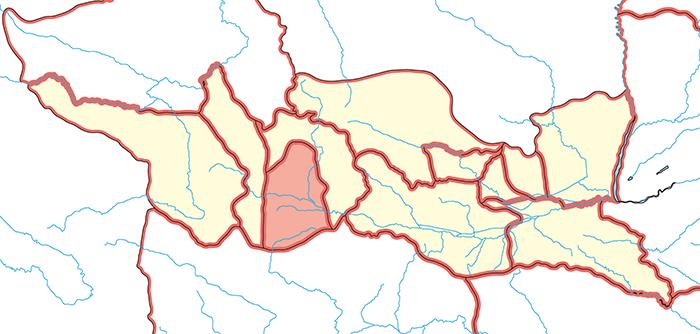 天水郡(てんすいぐん)の場所