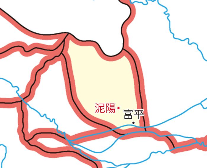 北地郡(ほくちぐん)の領城