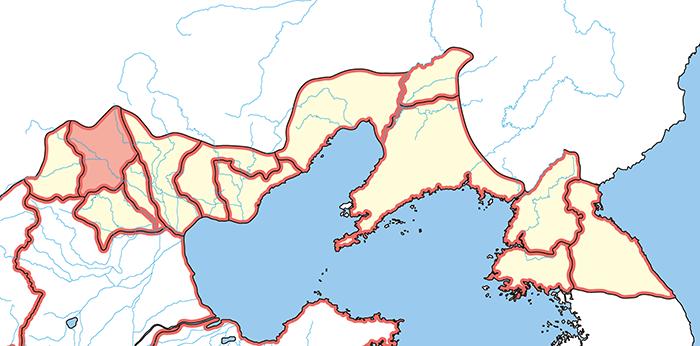 上谷郡(じょうこくぐん)の場所