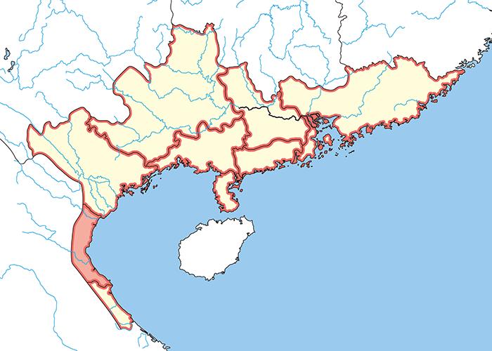 九真郡(きゅうしんぐん)の場所