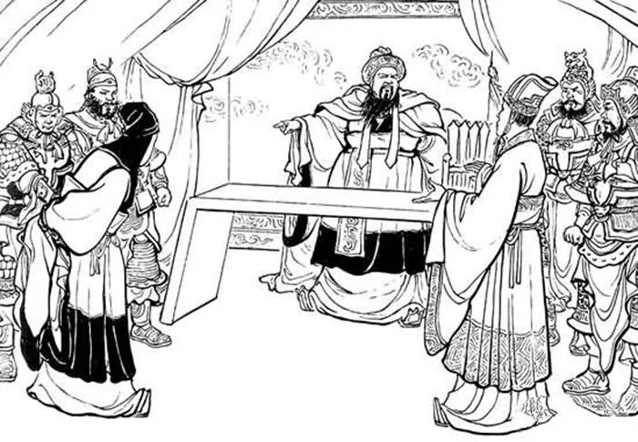 曹操に和睦の使者を送る