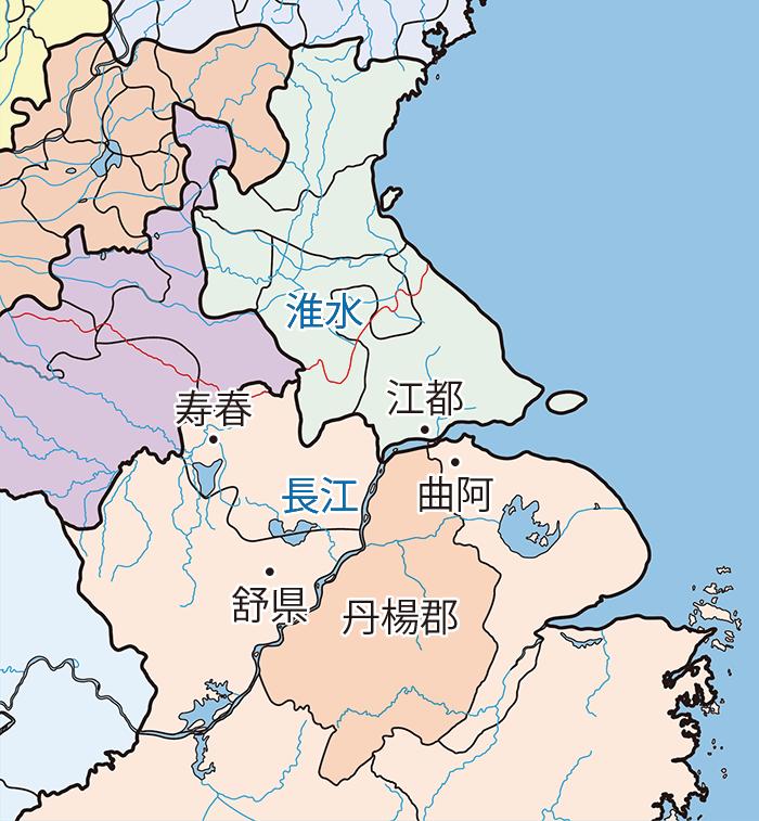 孫策関連地図